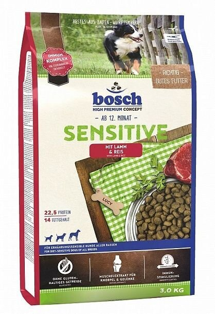 Bosch Sensitive Lamb & Rice для собак склонных к аллергии